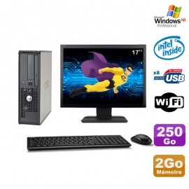 Lot PC Dell 380 SFF E5200 2.5Ghz 2Go Disque 250Go DVD WIFI Win XP + Ecran 17""