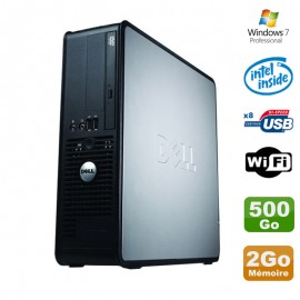 PC Dell Optiplex 380 SFF E5200 2.5Ghz 2Go Disque 500Go DVD WIFI Win 7 Pro