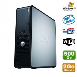 PC Dell Optiplex 380 SFF E5200 2.5Ghz 2Go Disque 500Go DVD WIFI Win XP Pro