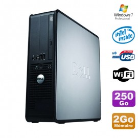 PC Dell Optiplex 380 SFF E5200 2.5Ghz 2Go Disque 250Go DVD WIFI Win 7 Pro