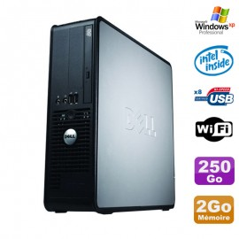 PC Dell Optiplex 380 SFF E5200 2.5Ghz 2Go Disque 250Go DVD WIFI Win XP Pro