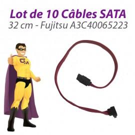 Lot x10 Câbles SATA A3C40065223 Fujitsu Siemens Esprimo E5700 E5905 32cm Rose