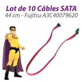 Lot x10 Câbles SATA A3C40079620 Fujitsu Siemens Esprimo E5925 44cm Rose