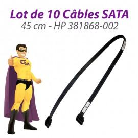 Lot x10 Câbles SATA HP 381868-002 DC5100S 7100 7700 SFF 5700UT 45cm Gris Foncé