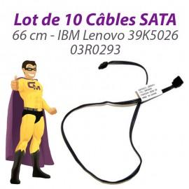 Lot 10 Câbles SATA IBM Lenovo 39K5026 03R0293 ThinkCentre M52 S51 66cm Gris Foncé