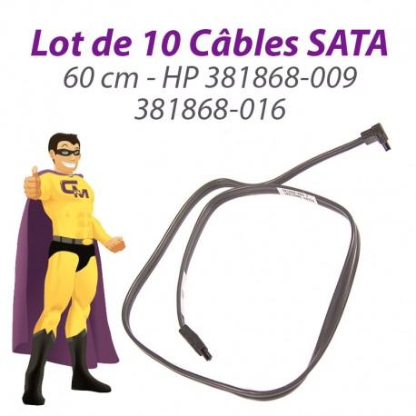 Lot 10 Câbles SATA HP 381868-009 381868-016 Proliant ML110 DC5800 60cm Gris Foncé