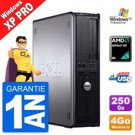 PC Dell OptiPlex 740 DT AMD Athlon 64 X2 RAM 4Go Disque Dur 250Go Windows XP