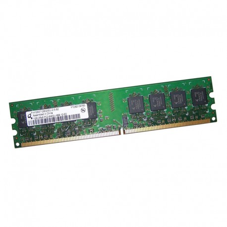 1Go RAM QIMONDA HYS64T128020EU-2.5-B2 240Pin DIMM DDR2 PC2-6400U 800Mhz 2Rx8 CL6
