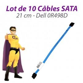Lot 10 Câbles SATA Dell 0R498D OptiPlex 380 580 780 960 980 XE 21cm Bleu