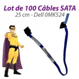 Lot 100 Câbles SATA Dell 0MK524 MK524 OptiPlex 745 755 SFF 780 25cm Bleu