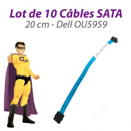 Lot 10 Câbles SATA Dell OU5959 U5959 Dell Optiplex 20cm Bleu