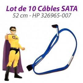 Lot 10 Câbles SATA HP 326965-007 52cm Bleu