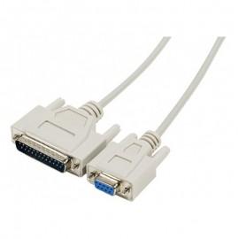 Câble Cordon Modem Null 576700 SUBD9F/25M 1.8m Imprimante NEUF