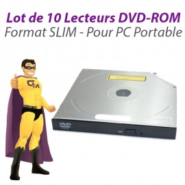 Lot 10x Lecteurs SLIM DVD-ROM SATA Philips Lite-On Sony Hitachi PC Portable SFF
