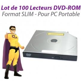 Lot 100x Lecteurs SLIM DVD-ROM SATA Philips Lite-On Sony Hitachi PC Portable SFF