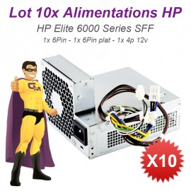 Lot 10x Alimentations PC HP Elite 6000 6005 6200 6300 SFF 611481-001 613762-001