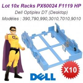 "Lot x10 Rack Disque Dur Dell Optiplex DT 3.5"" et 2.5"" PX60024 F1119 Tray Caddy"