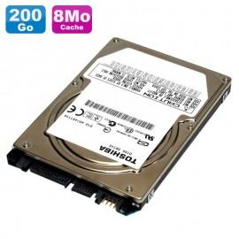 """Disque Dur 200Go SATA 2.5"""" Toshiba MK2046GSX HDD2D94 5400RPM Pc Portable 8Mo"""