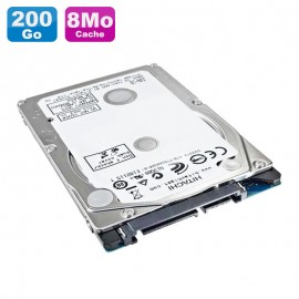 "Disque Dur 200Go SATA 2.5"" Hitachi Travelstar 7K200 HTS722020K9SA00 Pc Portable 8Mo"