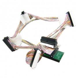 Câble Nappe Interne SCSI Ultra320 FOXCONN IBM FRU 39Y9785 39Y9784 68Pin 4 Prises