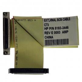 Câble Nappe Interne SCSI HP 5183-3446 68-Pin 65cm Netserver LH4 LH4R PII 400