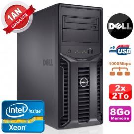 Serveur DELL PowerEdge T110 II NR Xeon Quad Core E3-1220 8Go Ram Ecc 2x 2To
