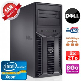 Serveur DELL PowerEdge T110 II NR Xeon Quad Core E3-1220 8Go Ram Ecc 2x 2To
