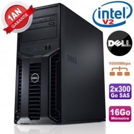 Serveur DELL PowerEdge T110 II Xeon QuadCore E3-1220 V2 16Go Ram Ecc 2x300Go SAS