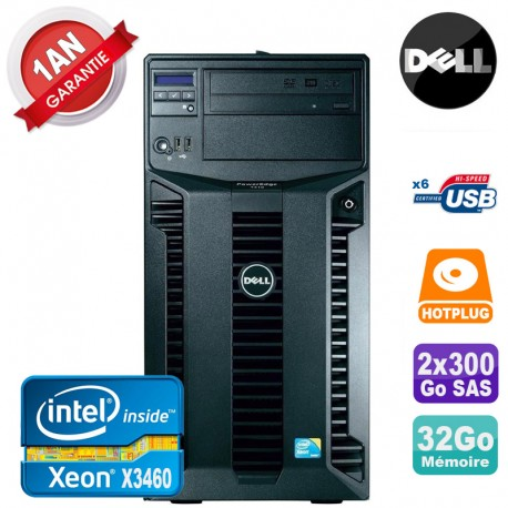 Serveur DELL PowerEdge T310 Xeon Quad Core X3460 32Go Ram Ecc 2x 300Go SAS