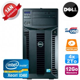 Serveur DELL PowerEdge T310 Xeon Quad Core X3460 12Go Ram Ecc 4x 2To SATA