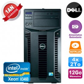 Serveur DELL PowerEdge T310 Xeon X3460 12Go 4x 2To Alimentation Redondante