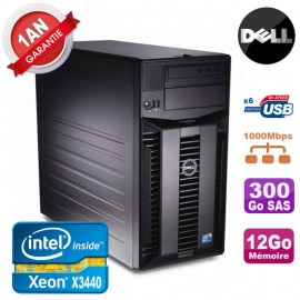 Serveur DELL PowerEdge T310 Xeon Quad Core X3440 12Go Ram Ecc 300Go SAS