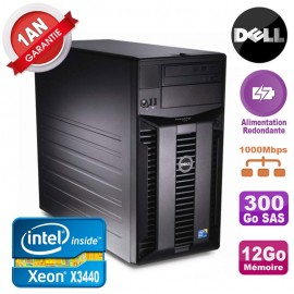 Serveur DELL PowerEdge T310 Xeon X3440 12Go 300Go Alimentation Redondante