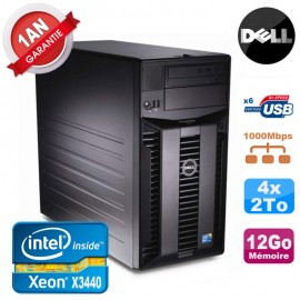 Serveur DELL PowerEdge T310 Xeon Quad Core X3440 12Go Ram Ecc 4x 2To SATA