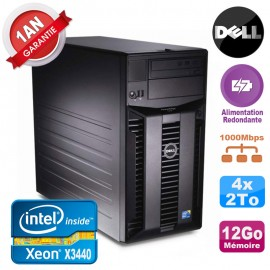 Serveur DELL PowerEdge T310 Xeon X3440 12Go 4x 2To Alimentation Redondante