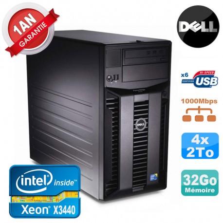 Serveur DELL PowerEdge T310 Xeon Quad Core X3440 32Go Ram Ecc 4x 2To SATA