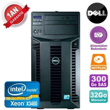 Serveur DELL PowerEdge T310 Xeon X3460 32Go 300Go Alimentation Redondante