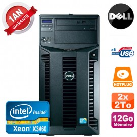 Serveur DELL PowerEdge T310 Xeon Quad Core X3460 12Go Ram Ecc 2x 2To SATA