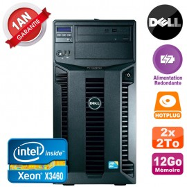Serveur DELL PowerEdge T310 Xeon X3460 12Go 2x 2To Alimentation Redondante