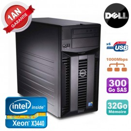 Serveur DELL PowerEdge T310 Xeon Quad Core X3440 32Go Ram Ecc 300Go SAS