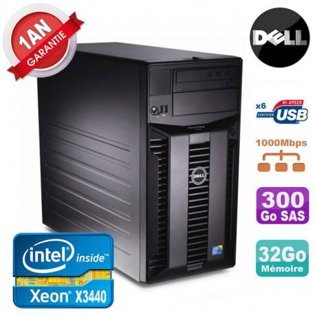 Serveur DELL PowerEdge T310 Xeon Quad Core X3440 32Go Ram Ecc 300Go SAS