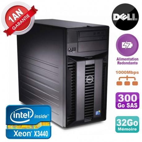Serveur DELL PowerEdge T310 Xeon X3440 32Go 300Go Alimentation Redondante