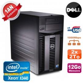 Serveur DELL PowerEdge T310 Xeon Quad Core X3440 12Go Ram Ecc 2x 2To SATA