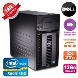 Serveur DELL PowerEdge T310 Xeon X3440 12Go 2x 2To Alimentation Redondante