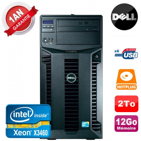 Serveur DELL PowerEdge T310 Xeon Quad Core X3460 12Go Ram Ecc 2To SATA