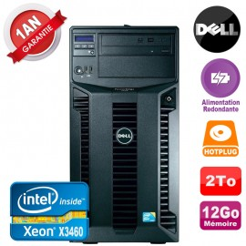 Serveur DELL PowerEdge T310 Xeon X3460 12Go 2To Alimentation Redondante
