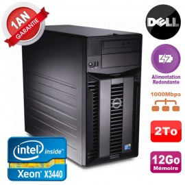 Serveur DELL PowerEdge T310 Xeon X3440 12Go 2To Alimentation Redondante