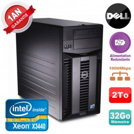 Serveur DELL PowerEdge T310 Xeon X3440 32Go 2To Alimentation Redondante
