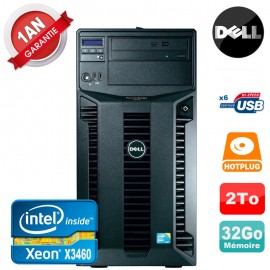 Serveur DELL PowerEdge T310 Xeon Quad Core X3460 32Go Ram Ecc 2To SATA