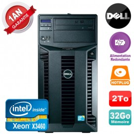 Serveur DELL PowerEdge T310 Xeon X3460 32Go 2To Alimentation Redondante